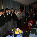 Carruth boys and Eilean sing the School song (Small)