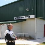 Dave outside gym