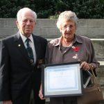 Lloyd Trigg's cousin and Old Boy Lawrence McBeath with Lloyd's sister Olwyn Reynolds (Small)