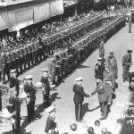 Sir Bernard Freyberg's visit 1947 with WBHS forming Guard of Honour