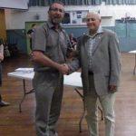Z Al Kirk presents Life badge to Graeme Kearney (Small)