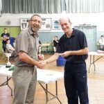 Z Al Kirk presents Life badge to Mark Wilson (Small)
